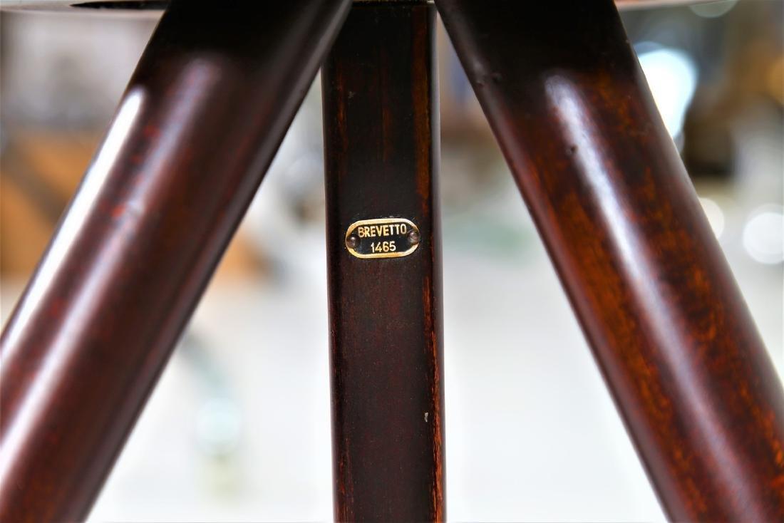MANIFATTURA ITALIANA  Wood and brass coffee table with - 7