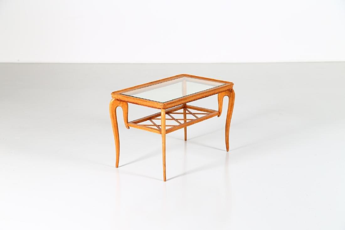 MANIFATTURA ITALIANA  Wood and glass coffee table,
