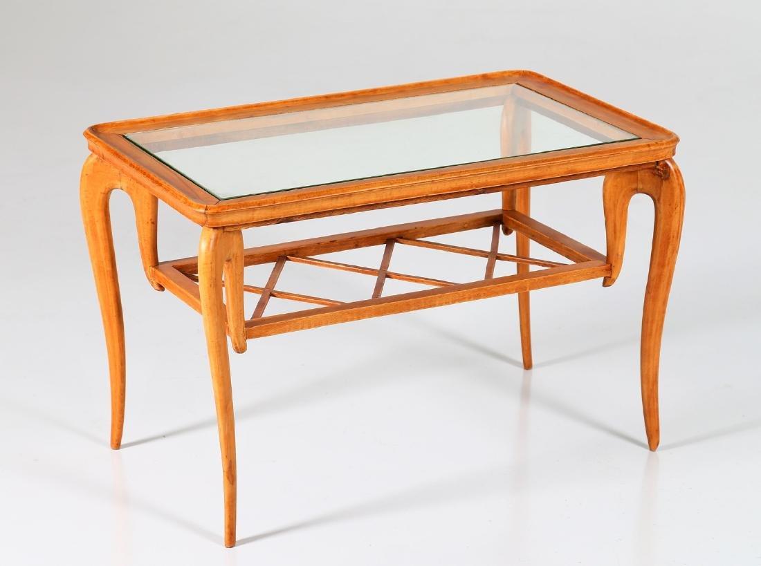 MANIFATTURA ITALIANA  Wood and glass coffee table, - 2