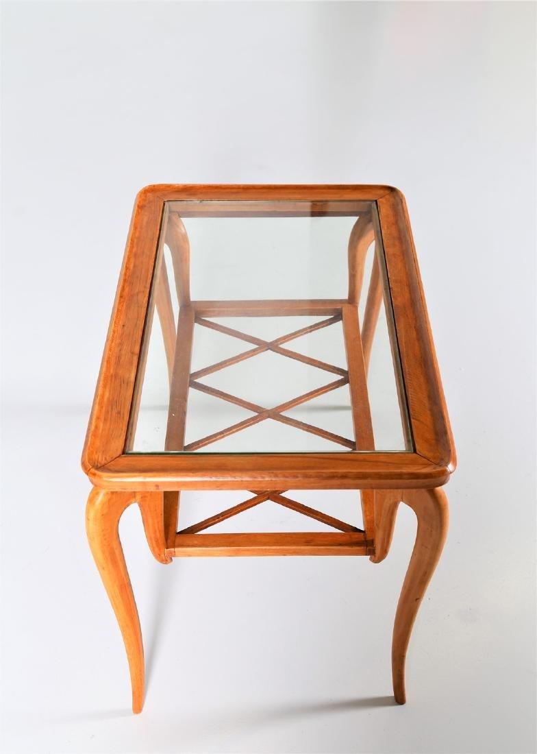 MANIFATTURA ITALIANA  Wood and glass coffee table, - 4