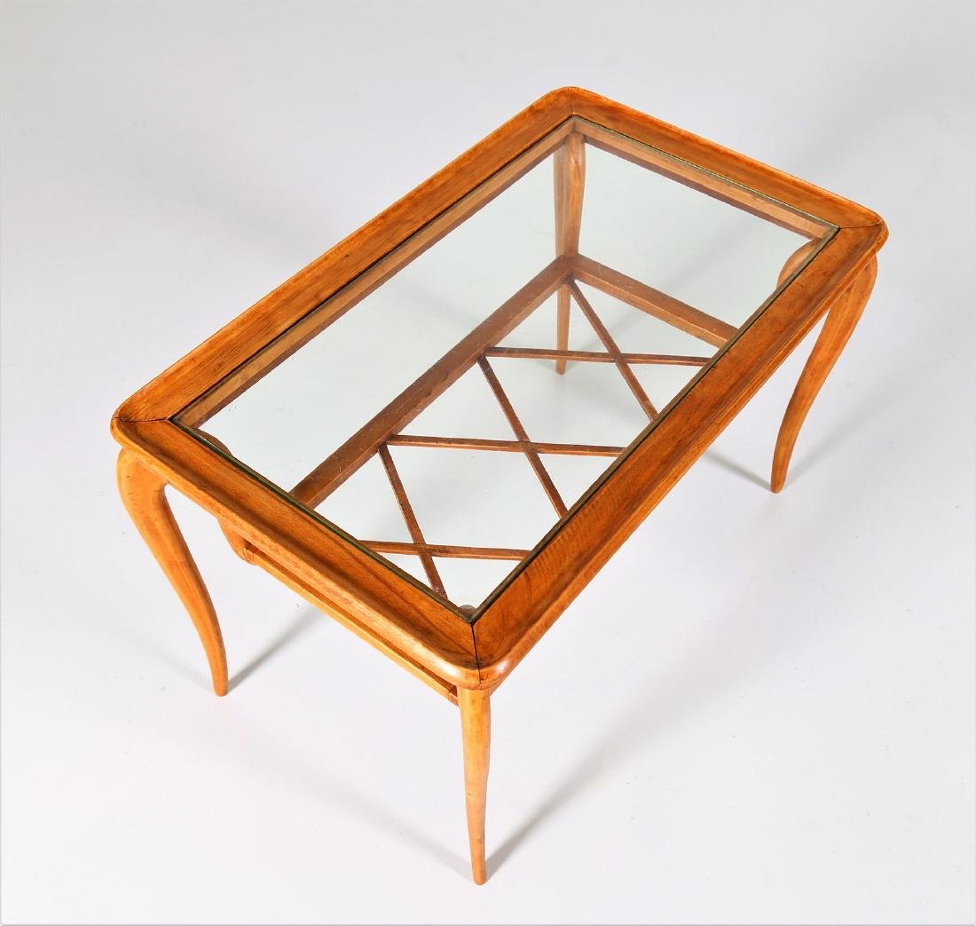 MANIFATTURA ITALIANA  Wood and glass coffee table, - 5