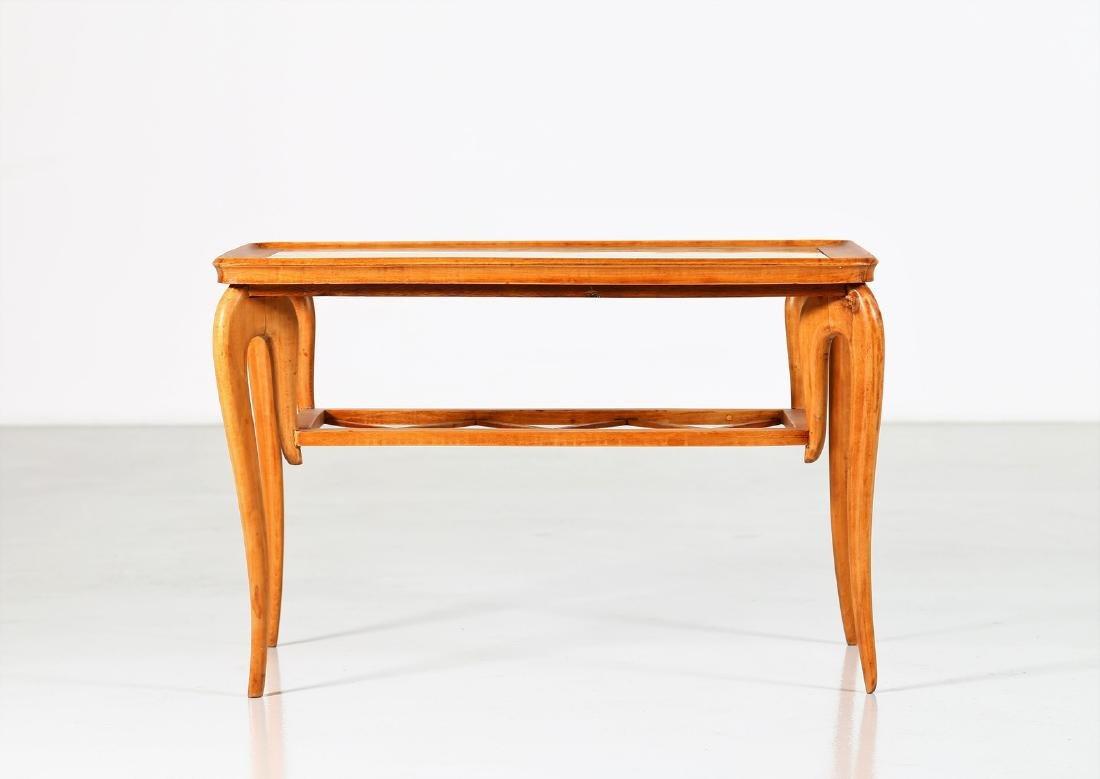 MANIFATTURA ITALIANA  Wood and glass coffee table, - 6