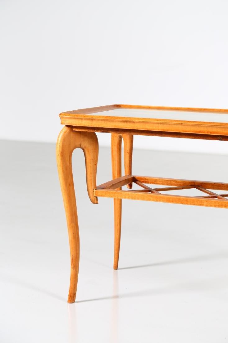 MANIFATTURA ITALIANA  Wood and glass coffee table, - 7