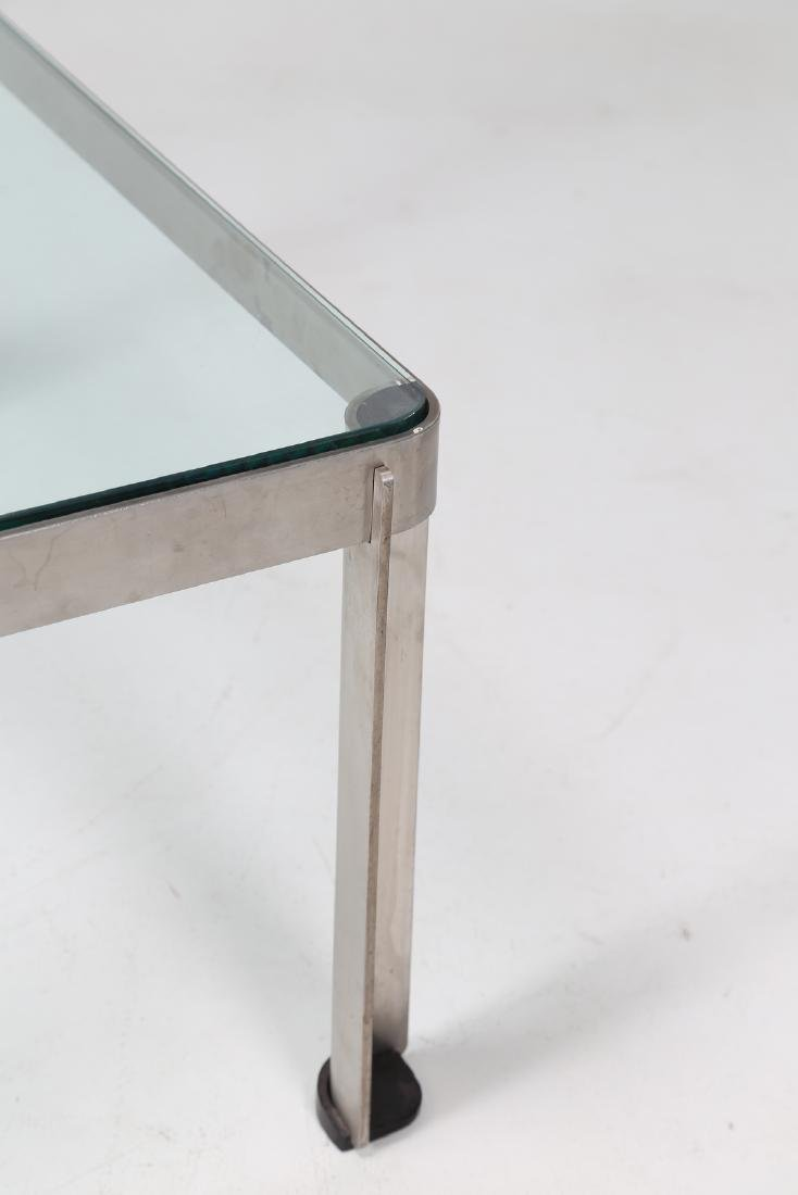 TECNO  Steel and glass coffee table, model T 113, - 4