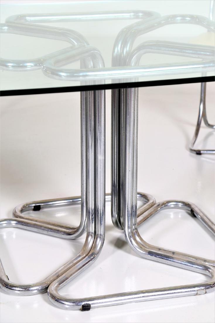 MANIFATTURA ITALIANA  Chromed metal table with glass - 3