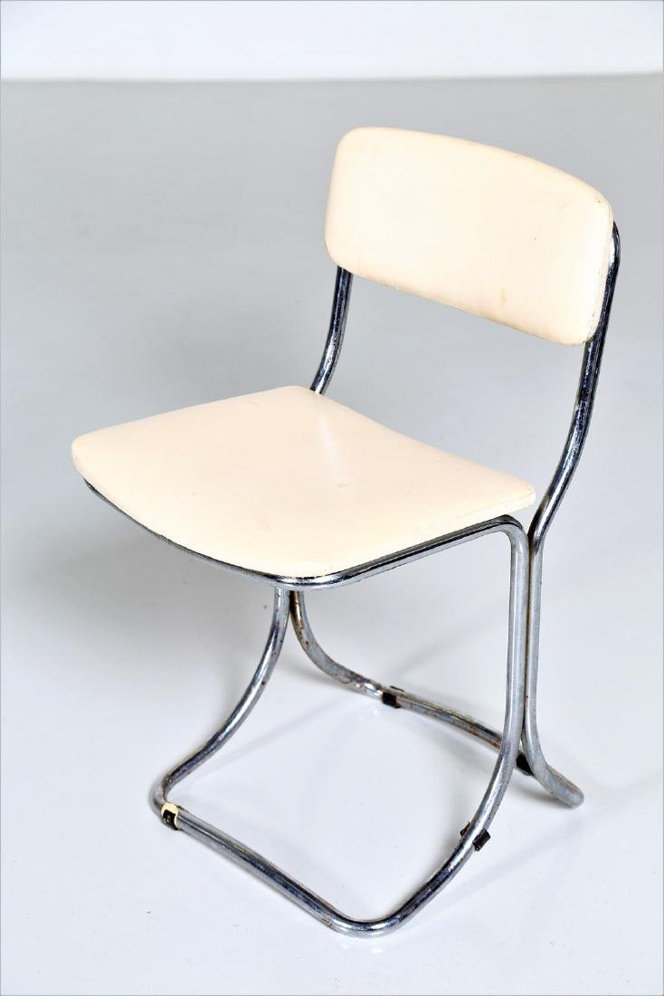 MANIFATTURA ITALIANA  Chromed metal table with glass - 5