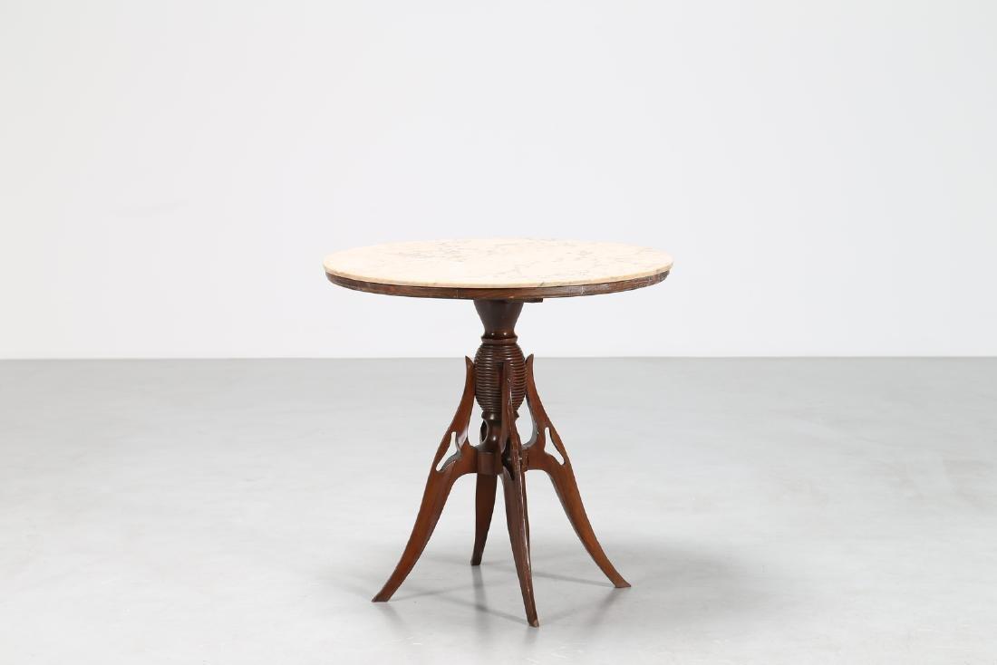 PIER LUIGI COLLI Distinctive wood pedestal table with