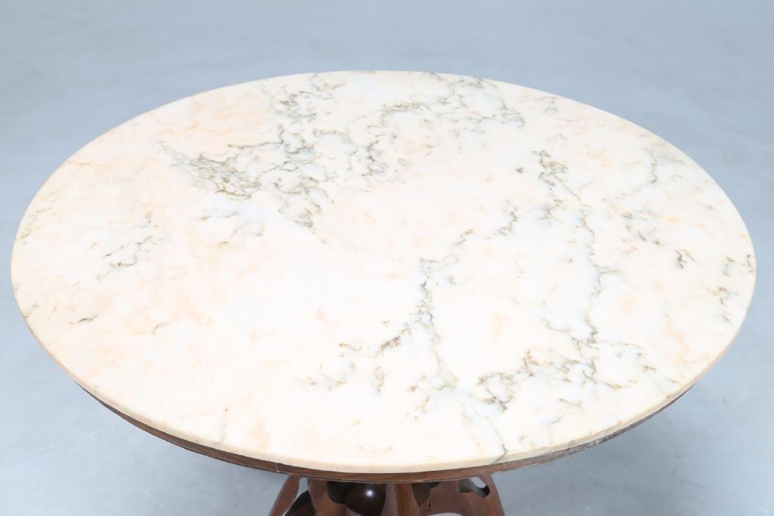 PIER LUIGI COLLI Distinctive wood pedestal table with - 3