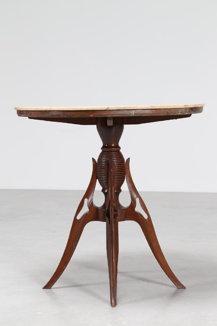 PIER LUIGI COLLI Distinctive wood pedestal table with - 4