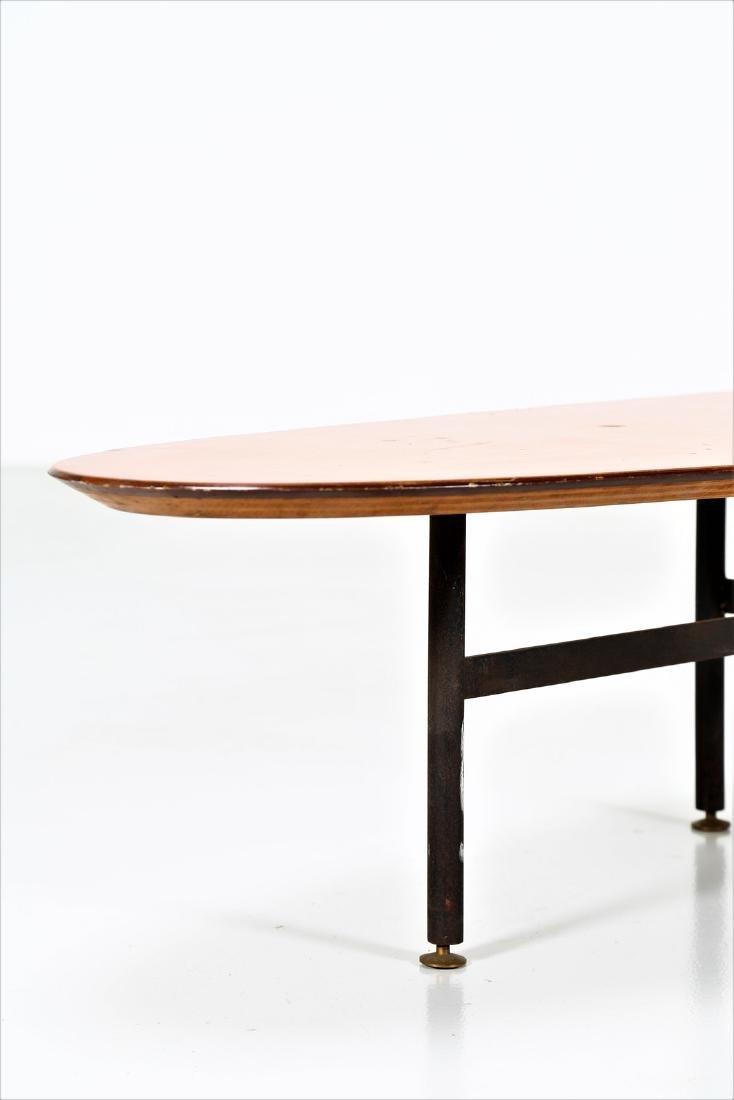 CAMPO & GRAFFI  Distinctive oval coffee table in teak, - 2
