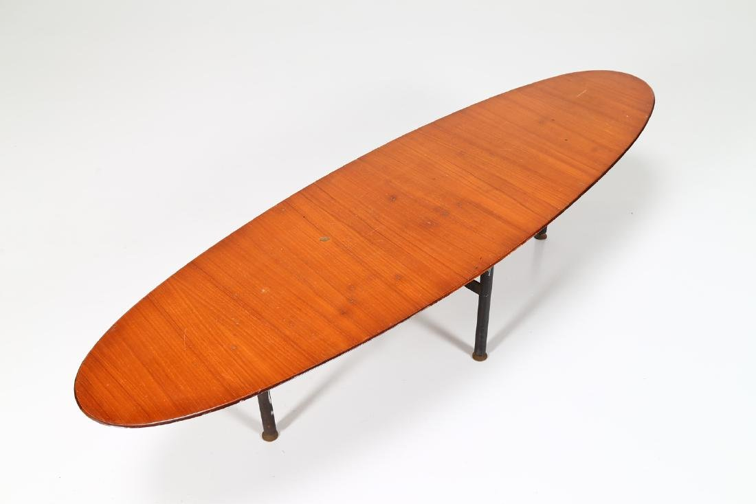 CAMPO & GRAFFI  Distinctive oval coffee table in teak, - 4