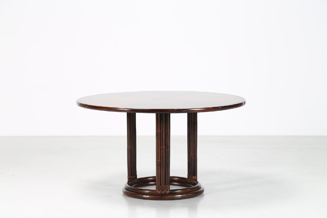 BONACINA 1889 Wenge and bamboo table.