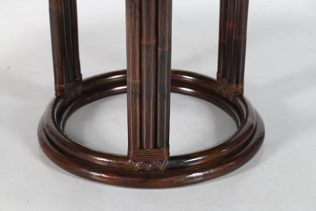 BONACINA 1889 Wenge and bamboo table. - 2