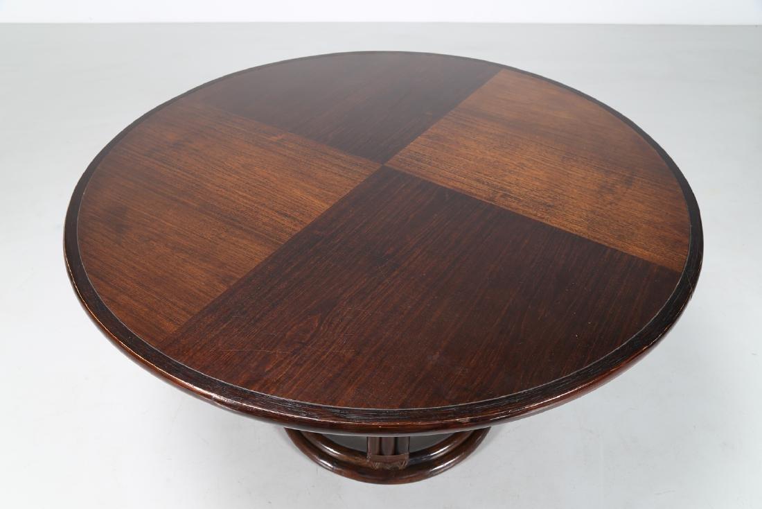 BONACINA 1889 Wenge and bamboo table. - 3