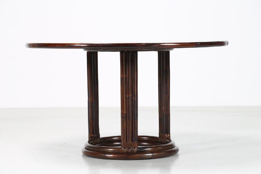 BONACINA 1889 Wenge and bamboo table. - 4