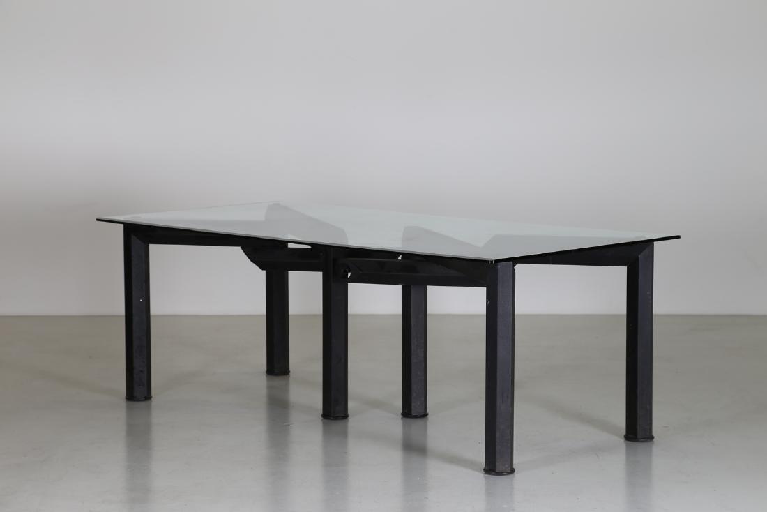 MANIFATTURA ITALIANA  Sandblasted metal table with