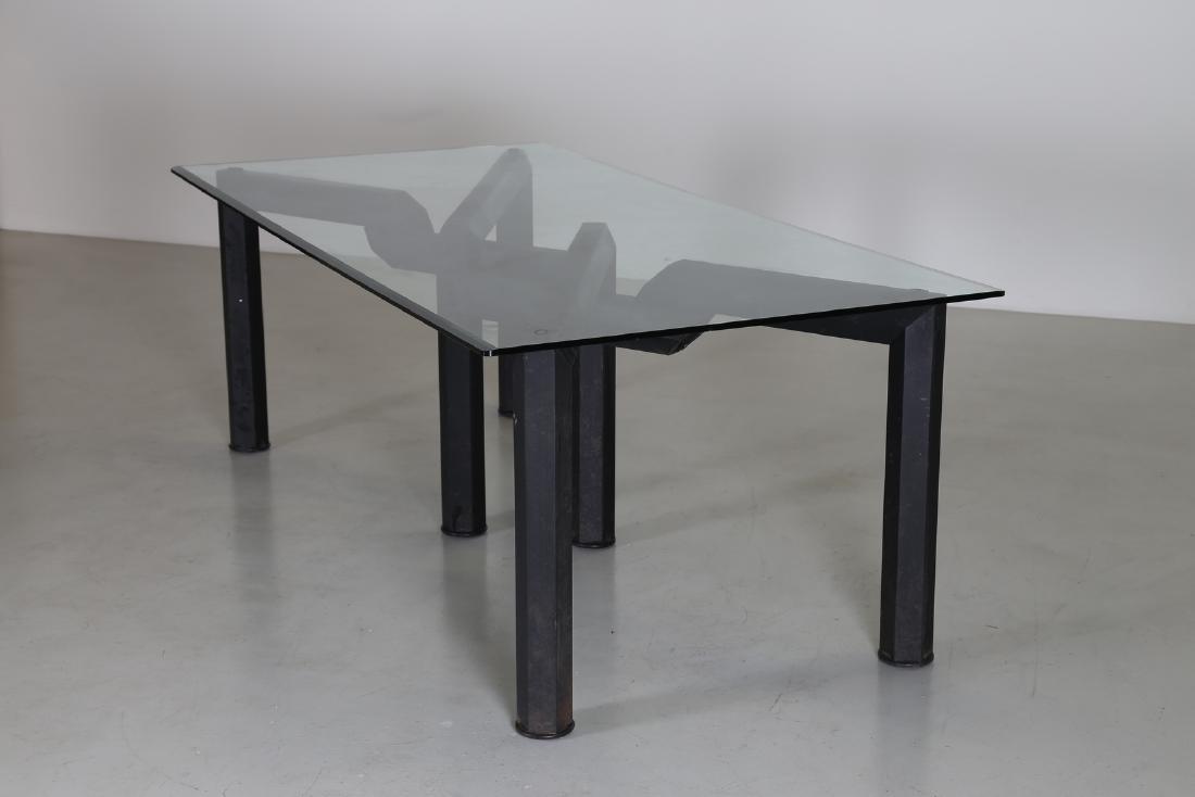 MANIFATTURA ITALIANA  Sandblasted metal table with - 2