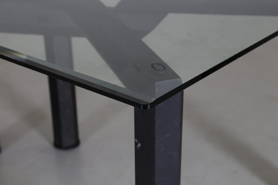 MANIFATTURA ITALIANA  Sandblasted metal table with - 4