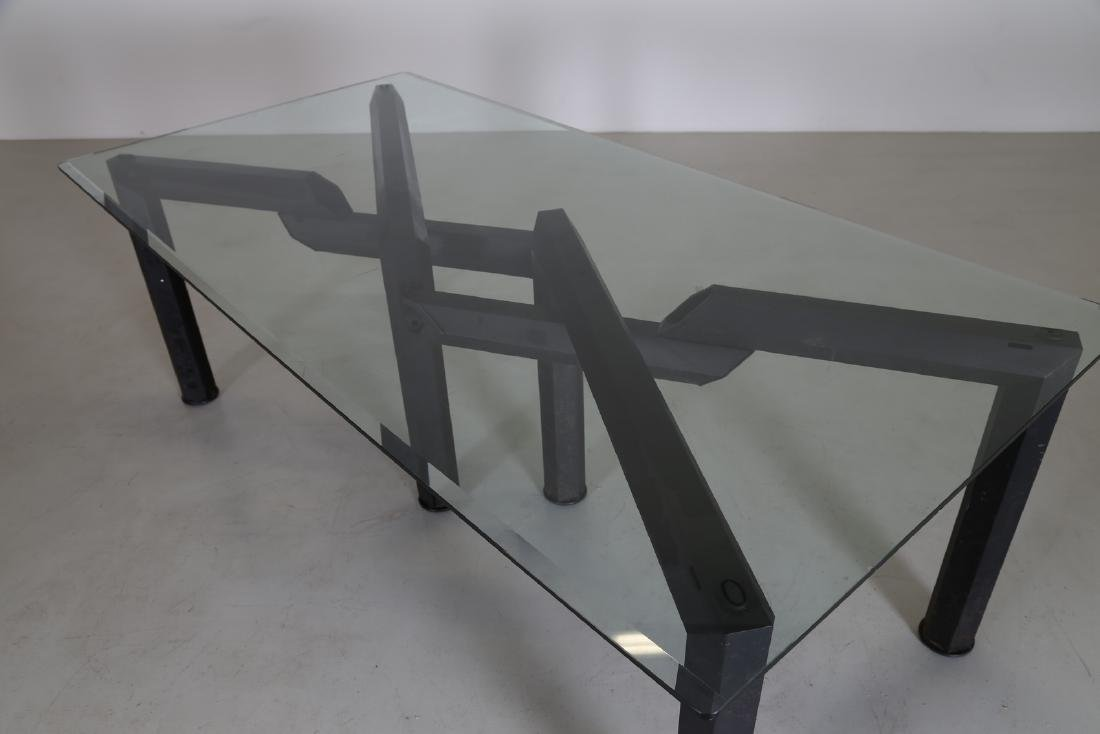MANIFATTURA ITALIANA  Sandblasted metal table with - 5