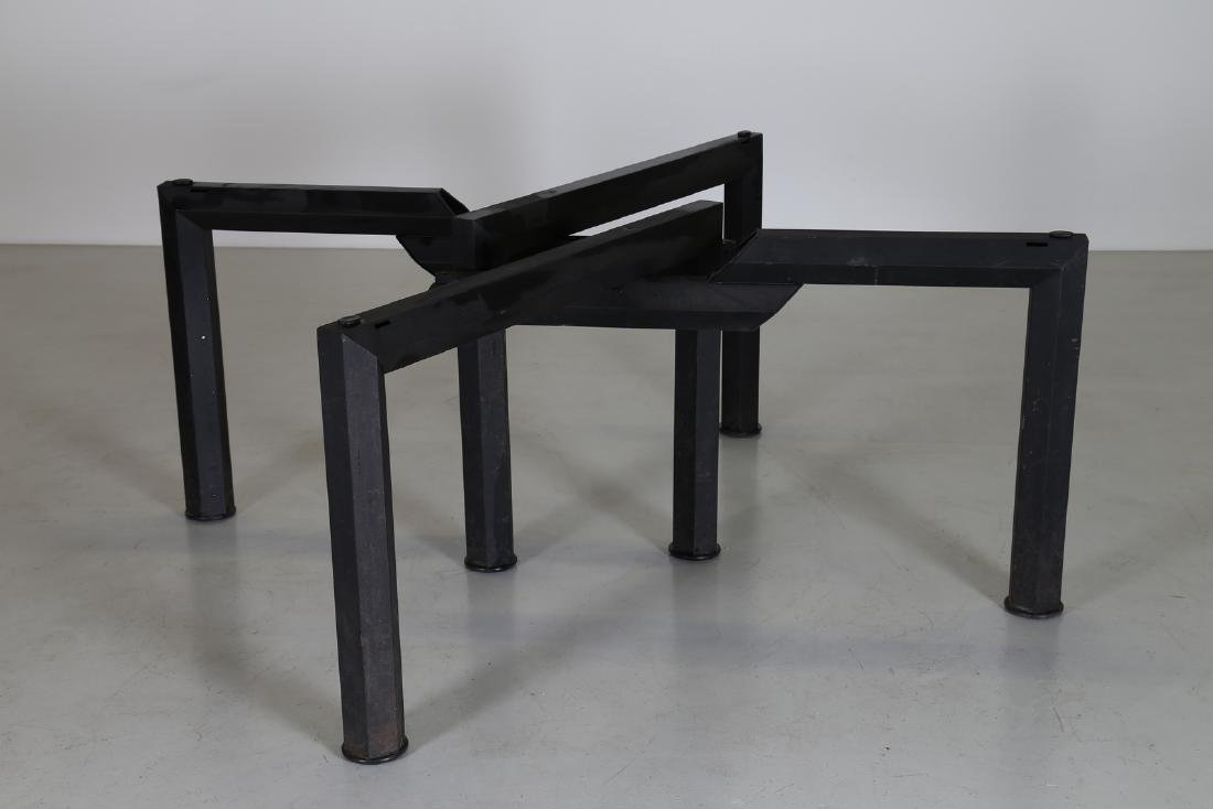 MANIFATTURA ITALIANA  Sandblasted metal table with - 6