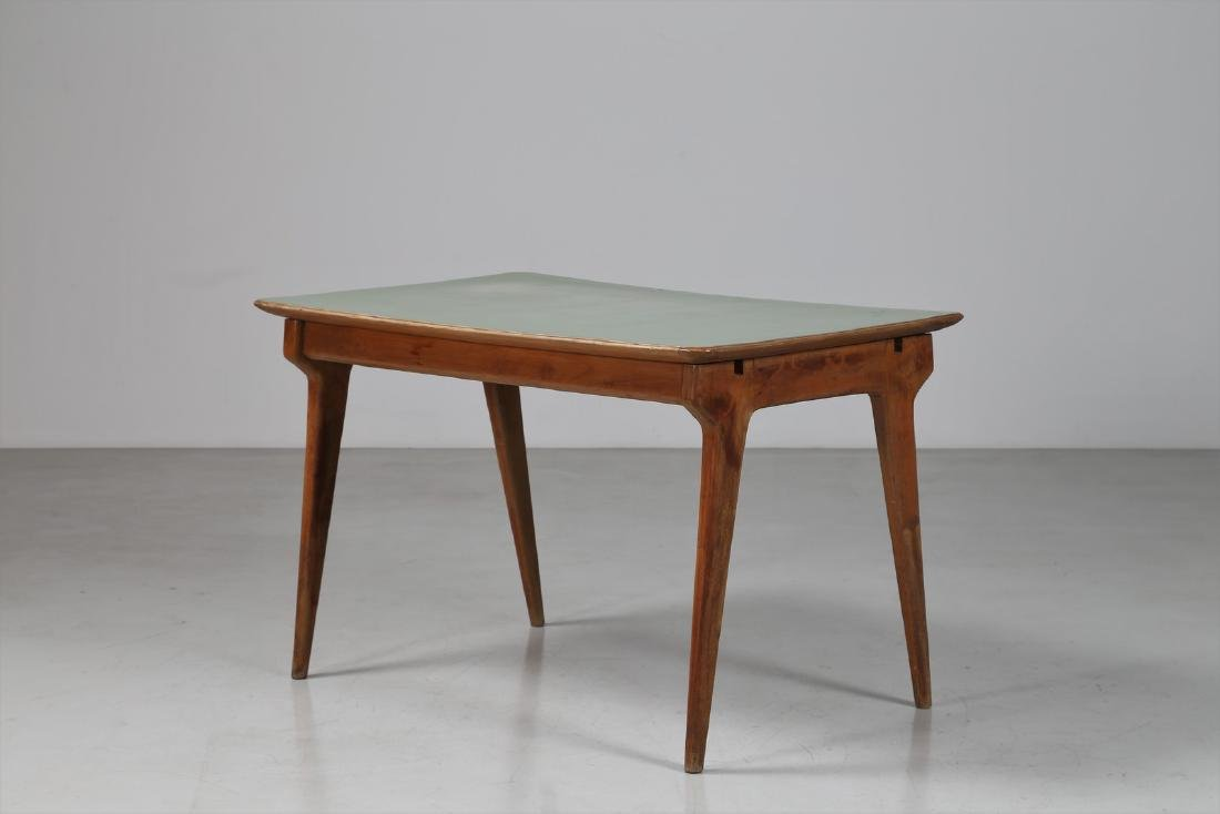 MANIFATTURA ITALIANA  Wood and Formica table, 1950s.