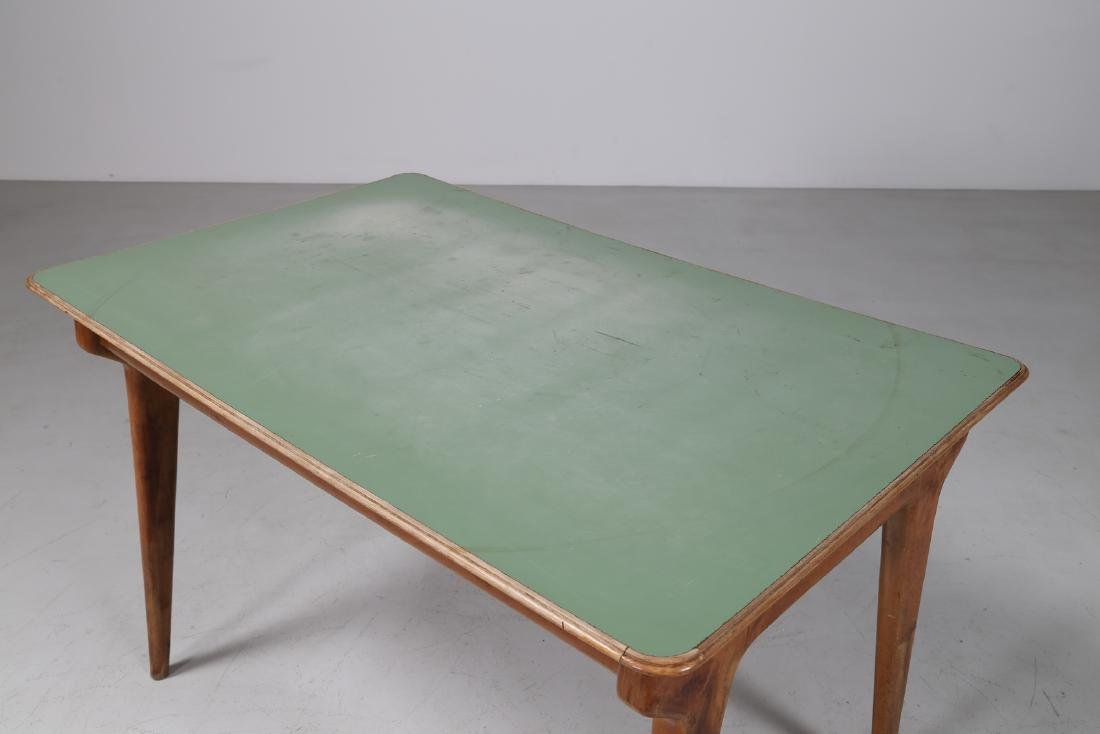 MANIFATTURA ITALIANA  Wood and Formica table, 1950s. - 5