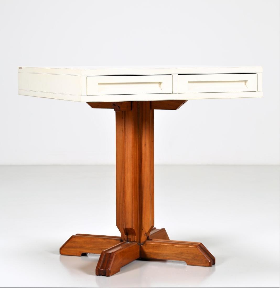 NESTORIO SACCHI Lacquered wood table, 1950s. - 2