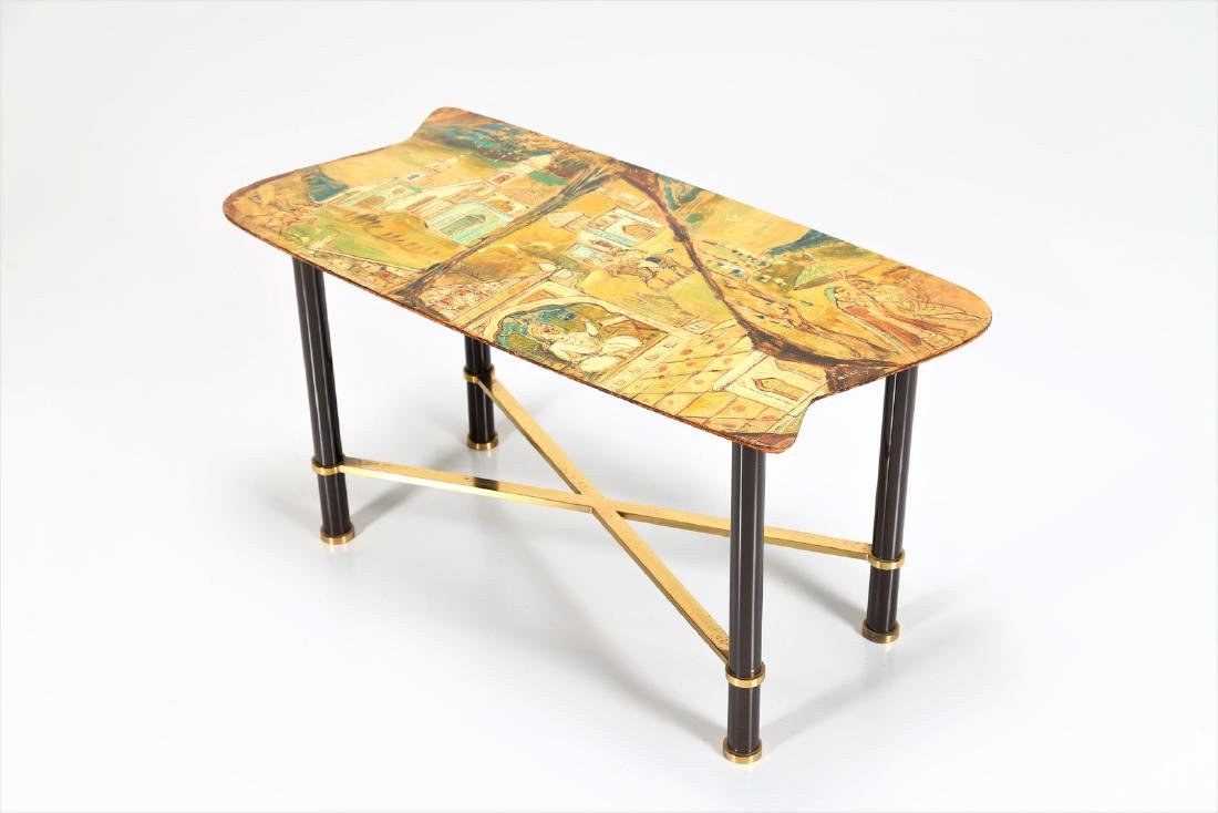 GRUPPO DECALAGE Hand-painted wood coffee table, 1956.