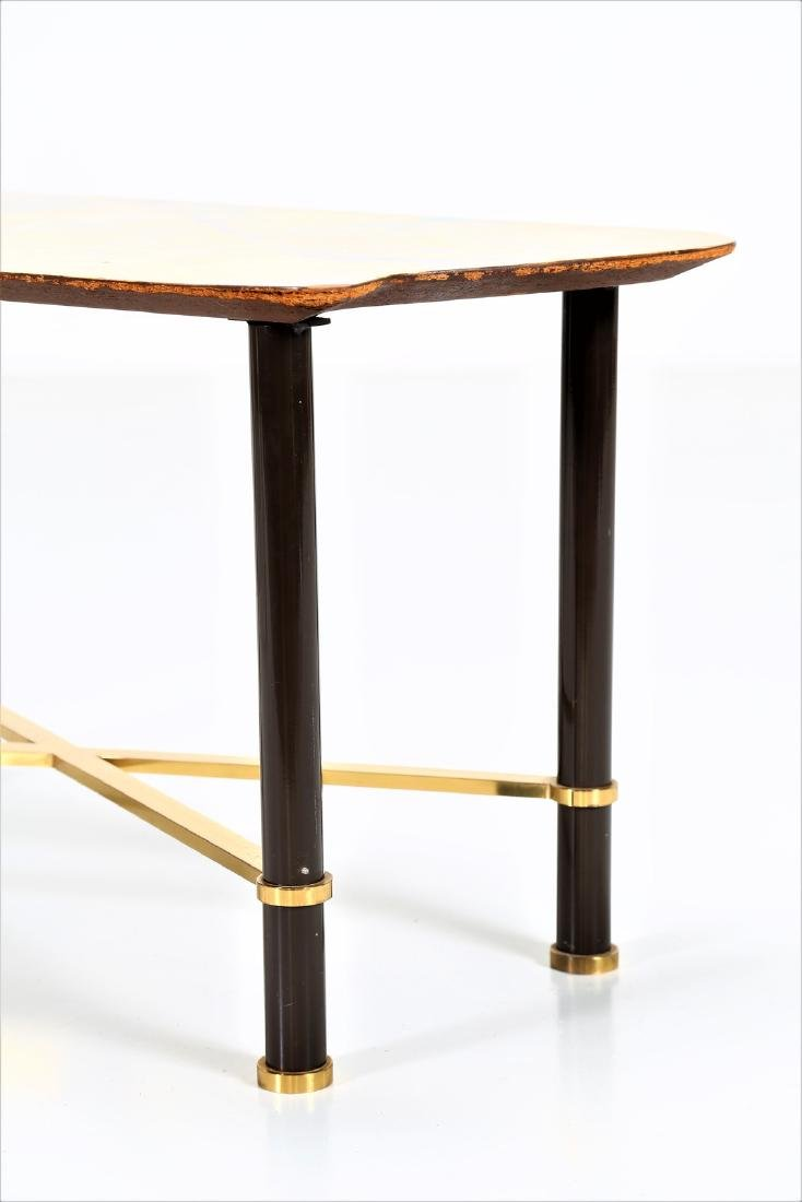 GRUPPO DECALAGE Hand-painted wood coffee table, 1956. - 2