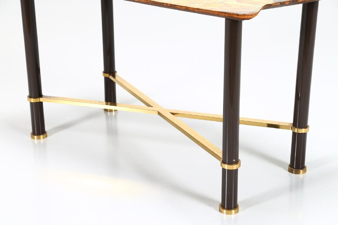 GRUPPO DECALAGE Hand-painted wood coffee table, 1956. - 3