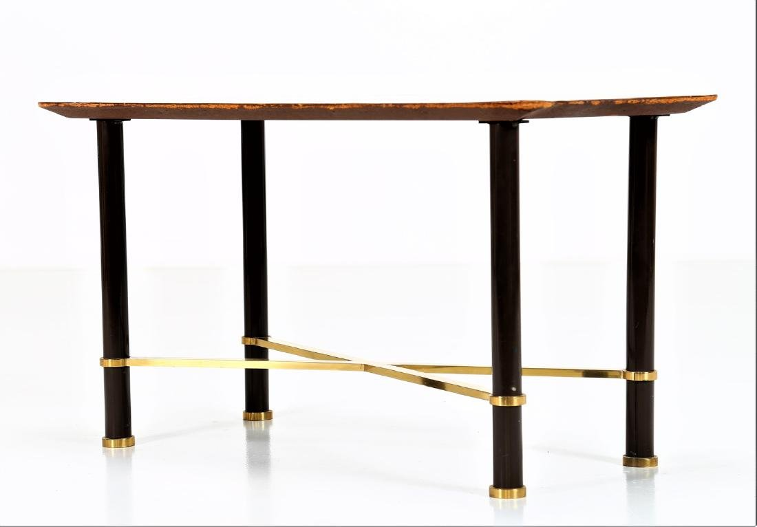 GRUPPO DECALAGE Hand-painted wood coffee table, 1956. - 4