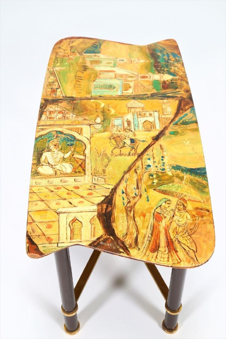 GRUPPO DECALAGE Hand-painted wood coffee table, 1956. - 5