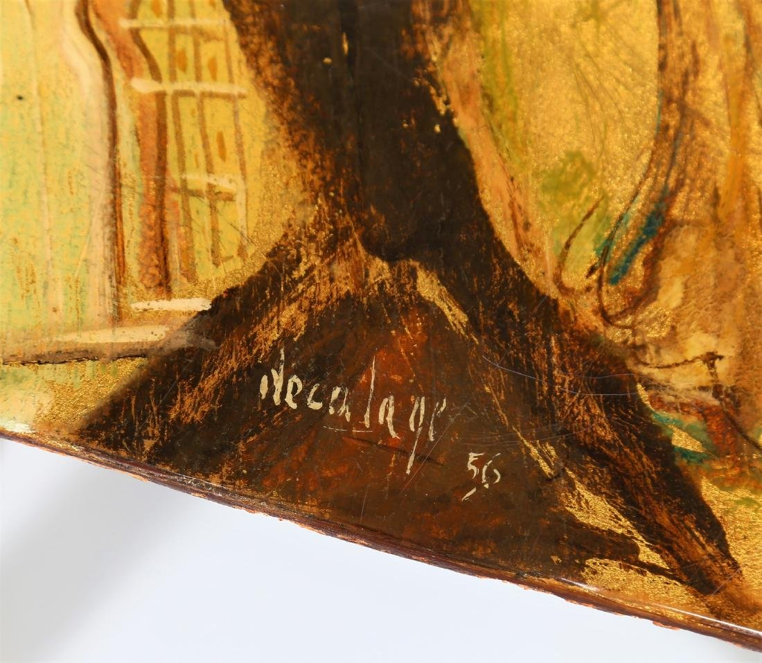 GRUPPO DECALAGE Hand-painted wood coffee table, 1956. - 7