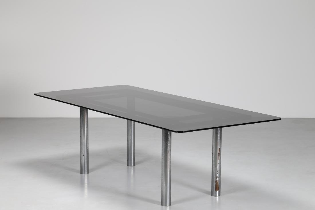 AFRA & TOBIA SCARPA Table with chromed metal base and