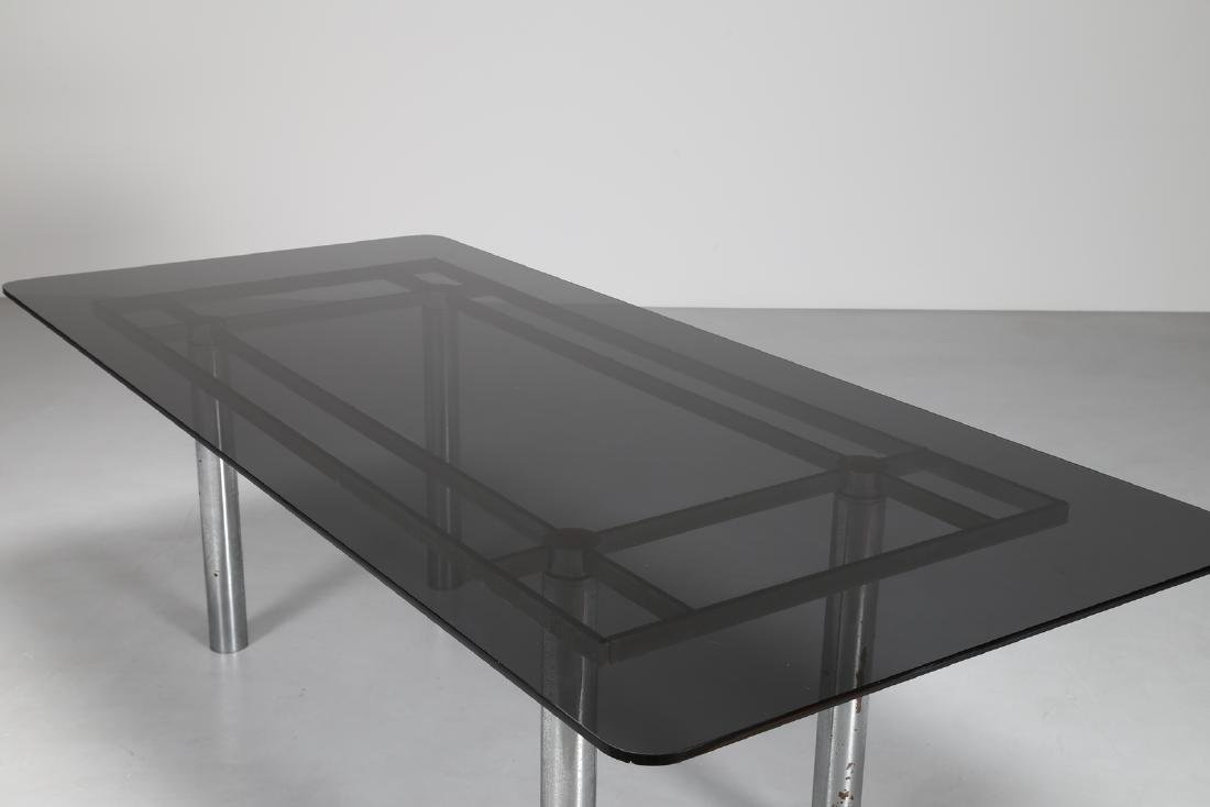 AFRA & TOBIA SCARPA Table with chromed metal base and - 2