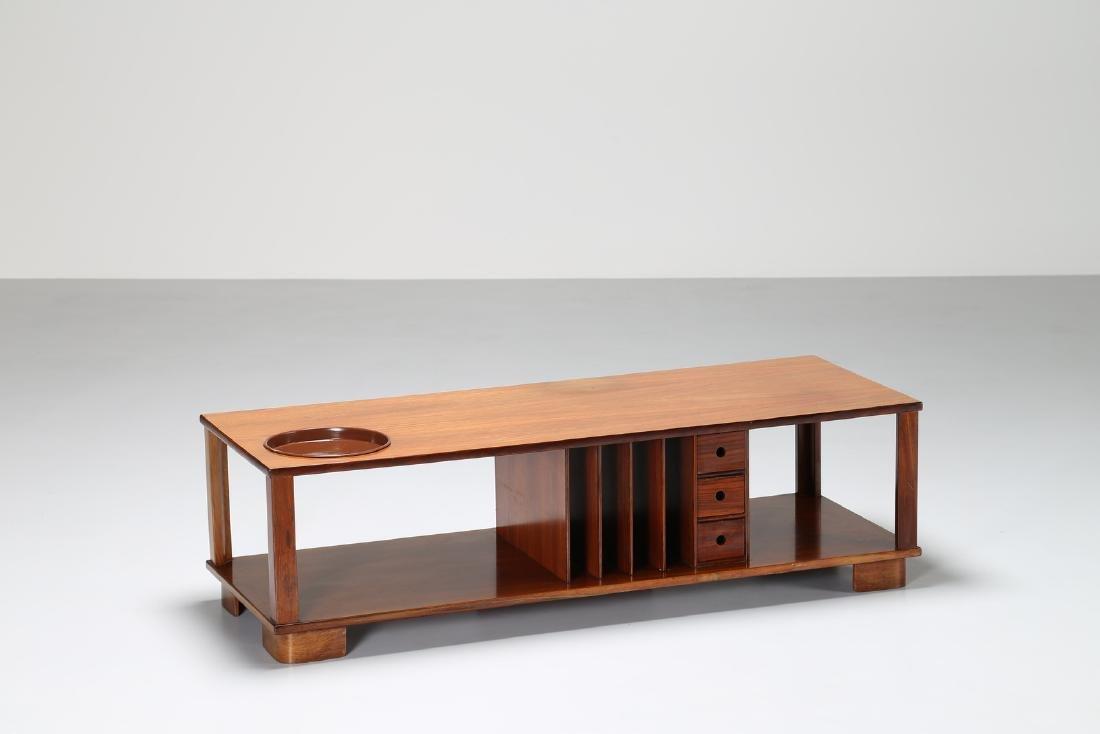 MANIFATTURA ITALIANA  Rectangular rosewood coffee table