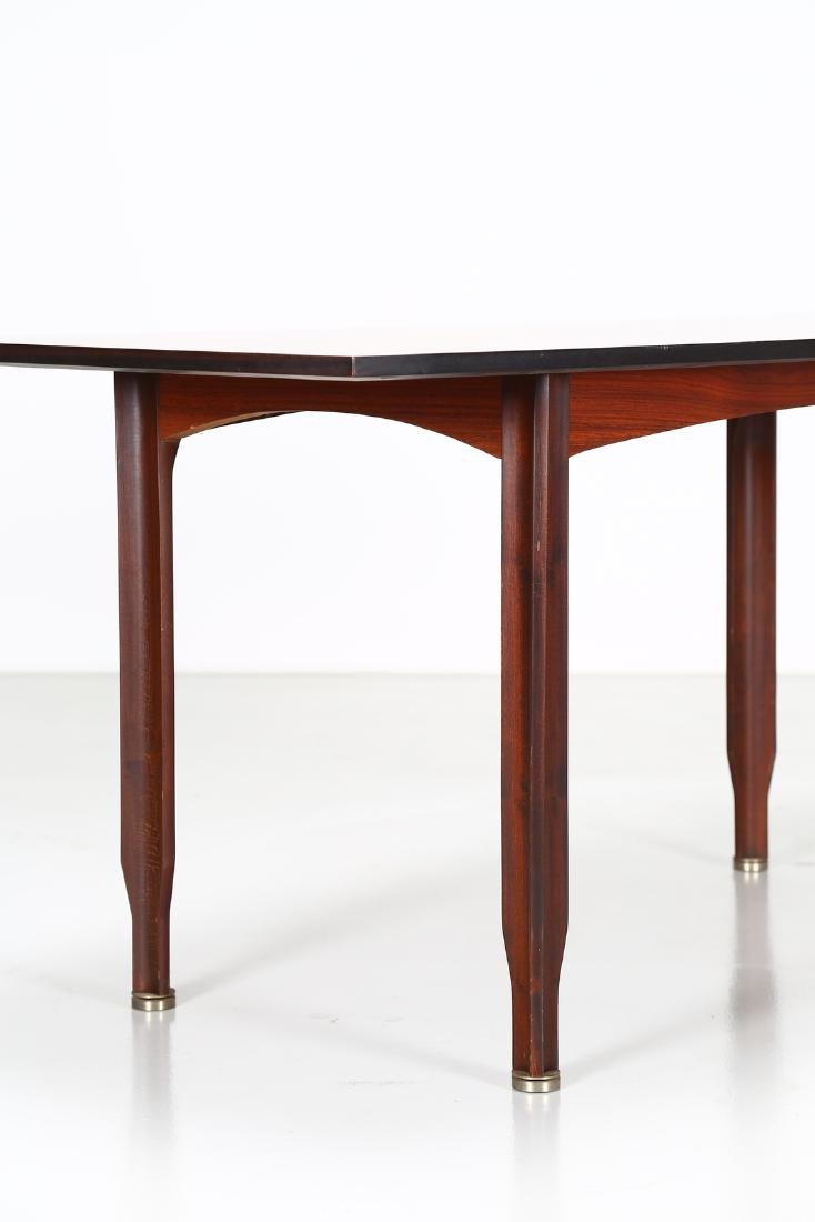 GIGI RADICE Rosewood and brass table by Sorgente dei - 2