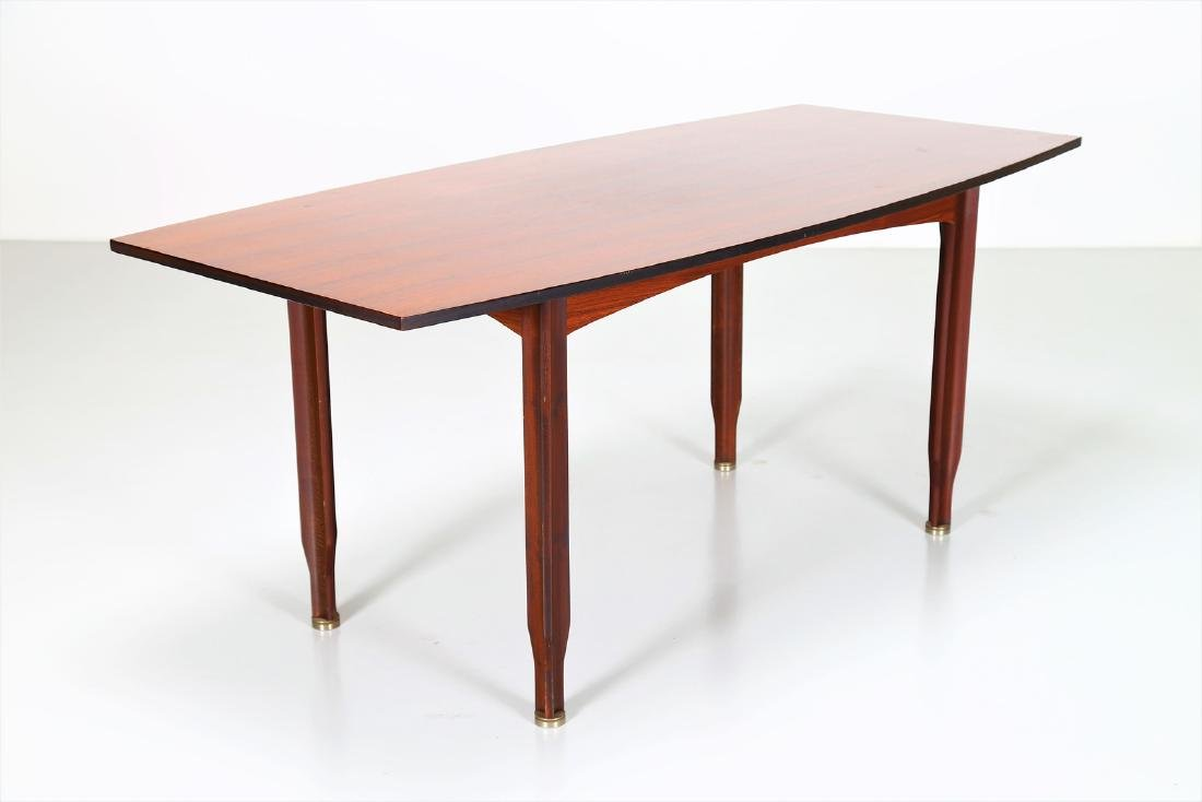 GIGI RADICE Rosewood and brass table by Sorgente dei - 4