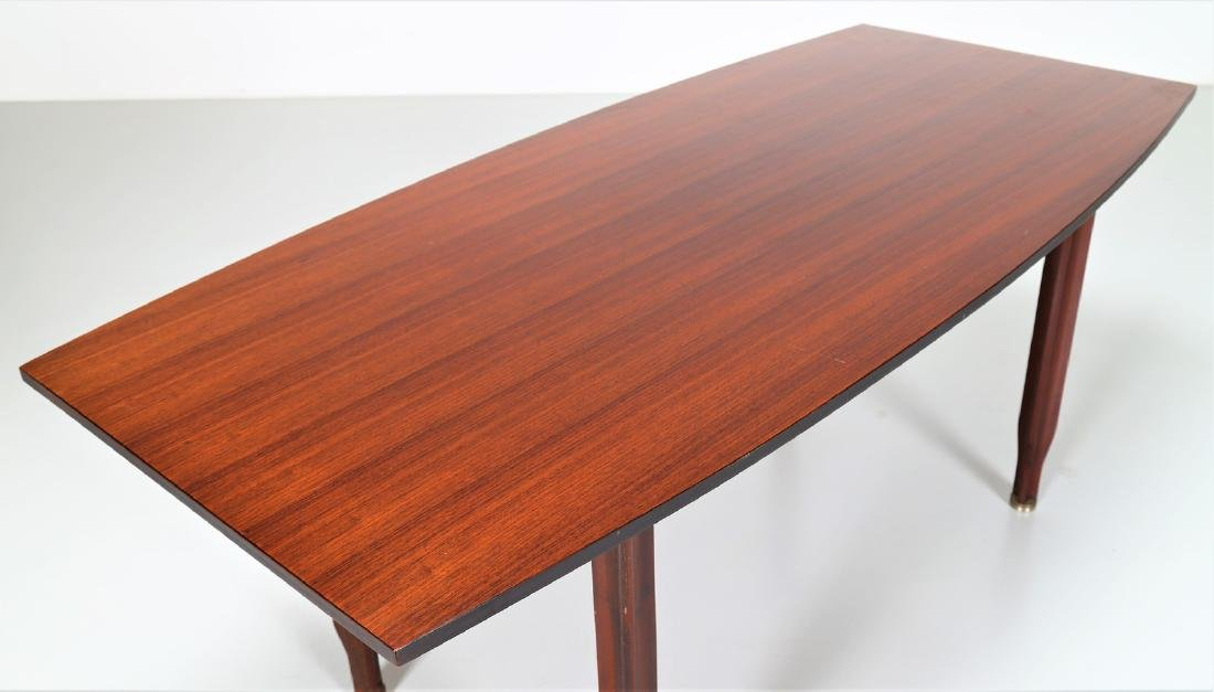 GIGI RADICE Rosewood and brass table by Sorgente dei - 5