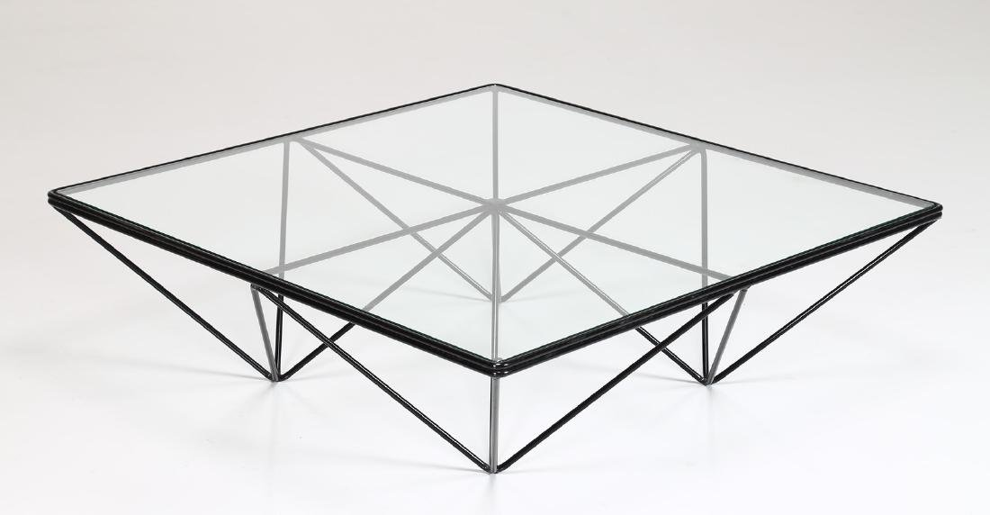 PAOLO PIVA Lacquered metal and glass coffee table by - 2