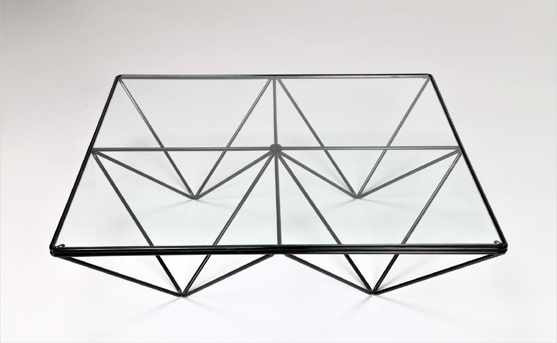 PAOLO PIVA Lacquered metal and glass coffee table by - 3