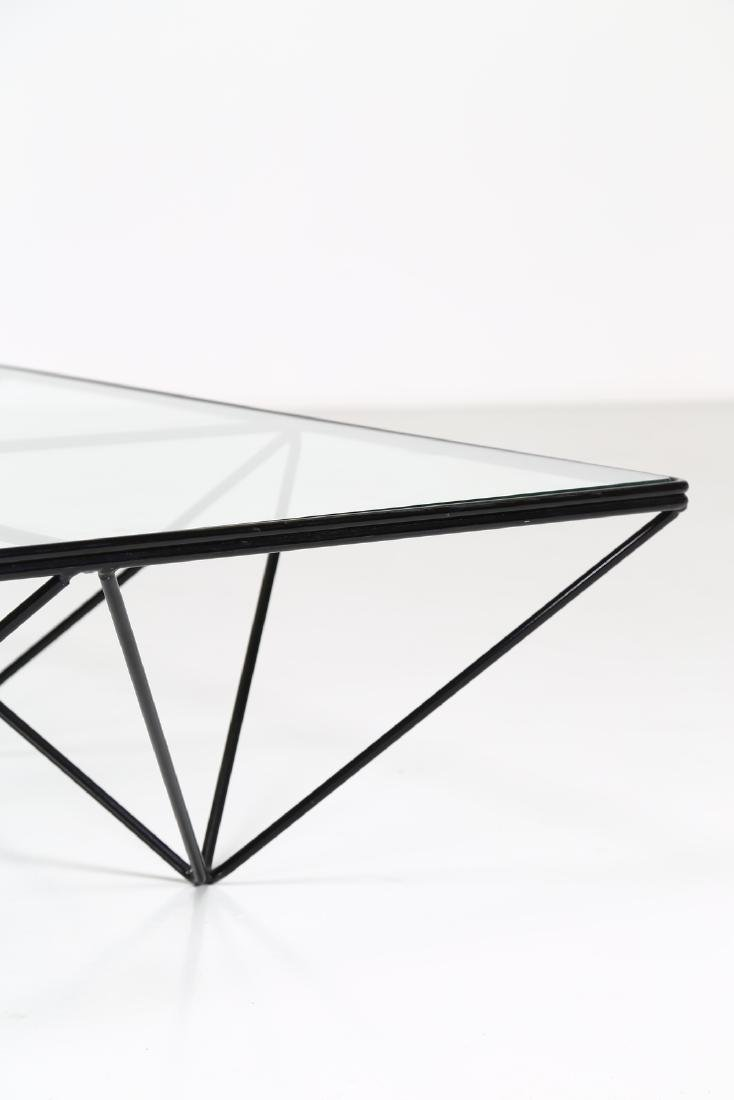 PAOLO PIVA Lacquered metal and glass coffee table by - 5