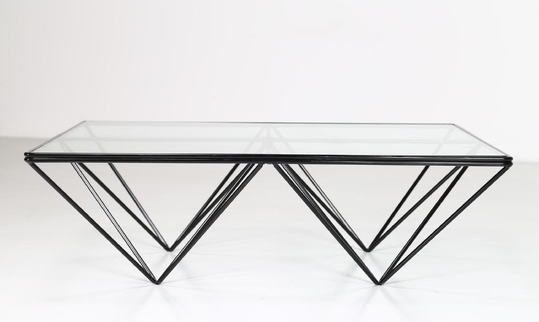 PAOLO PIVA Lacquered metal and glass coffee table by - 6
