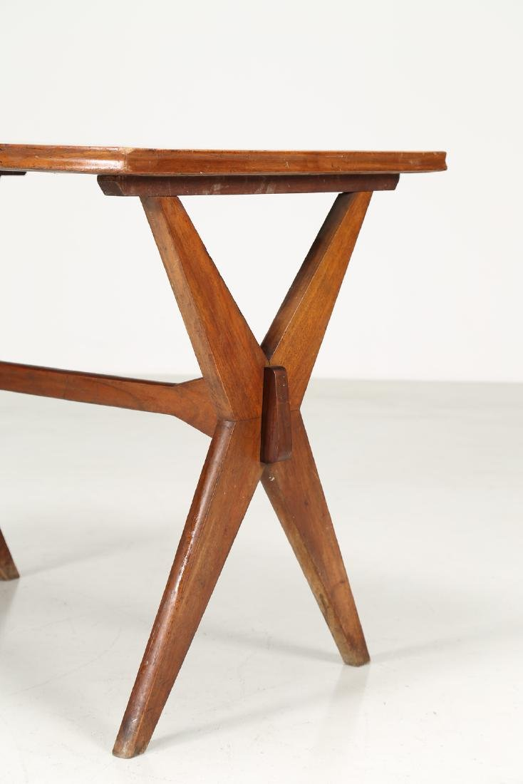 MANIFATTURA ITALIANA  Walnut and Formica table, 1950s. - 2
