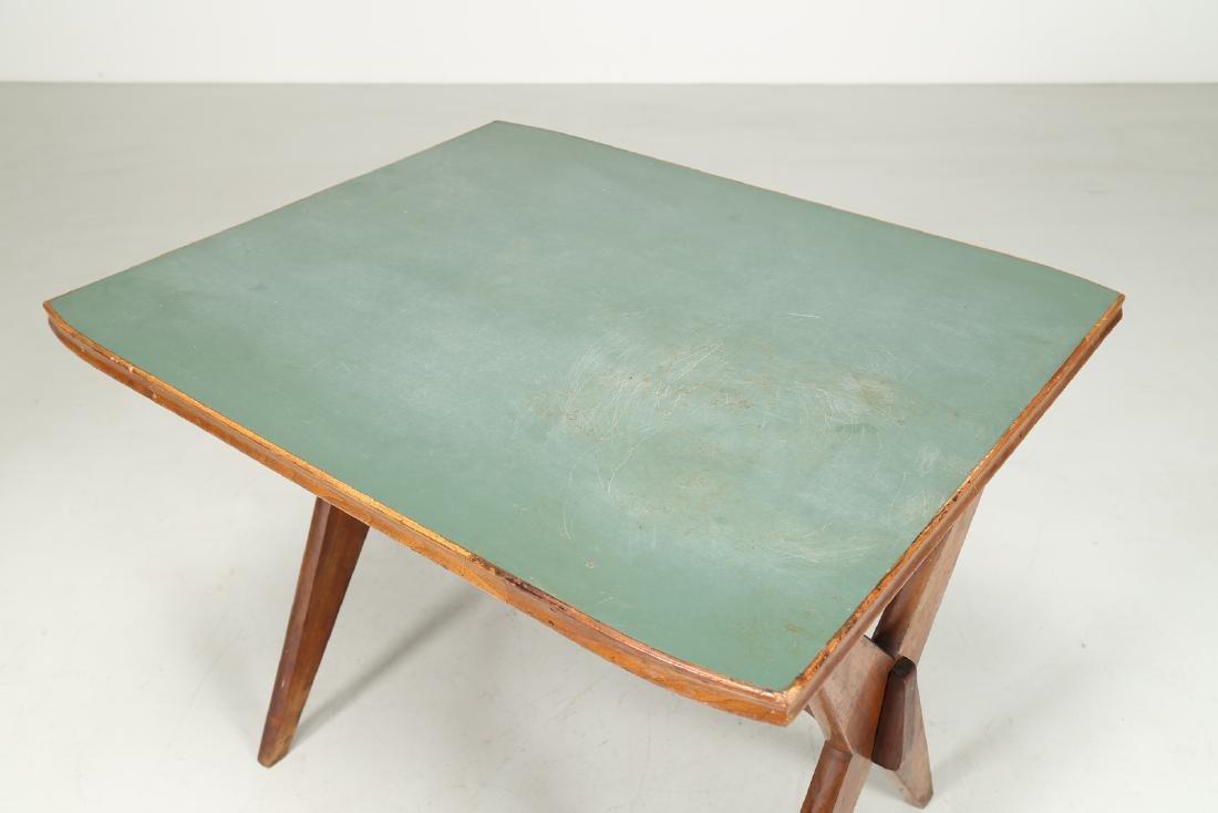 MANIFATTURA ITALIANA  Walnut and Formica table, 1950s. - 4
