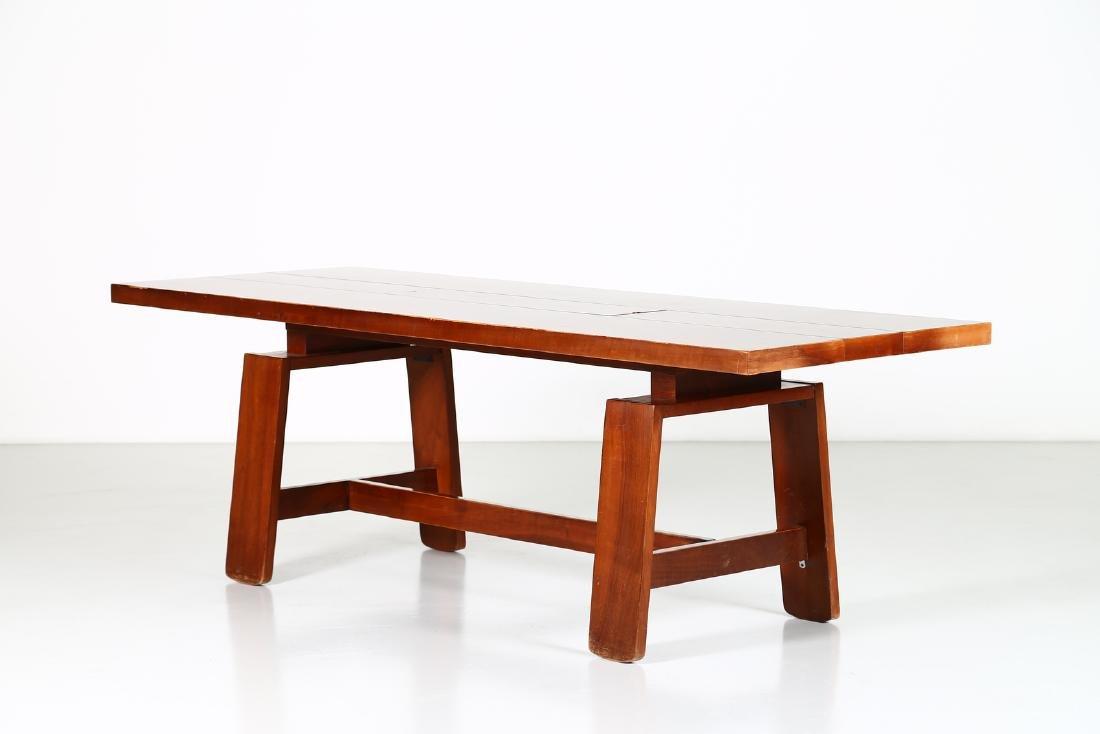 SILVIO COPPOLA Solid walnut table by Bernini, 1969.