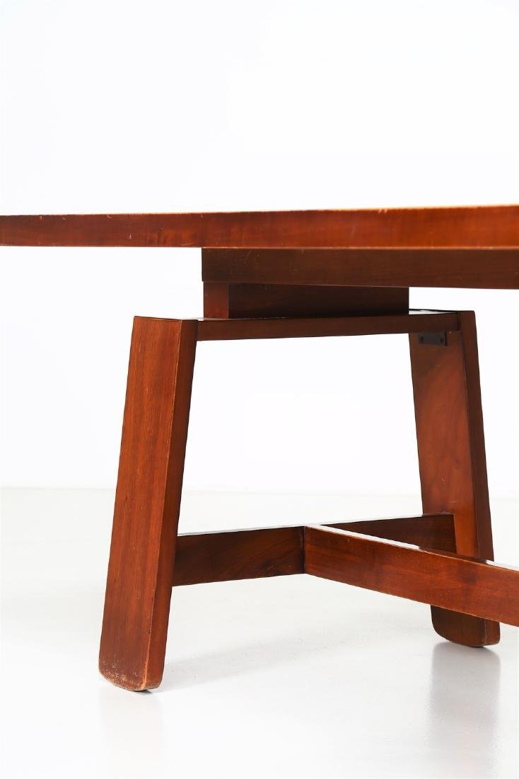 SILVIO COPPOLA Solid walnut table by Bernini, 1969. - 5