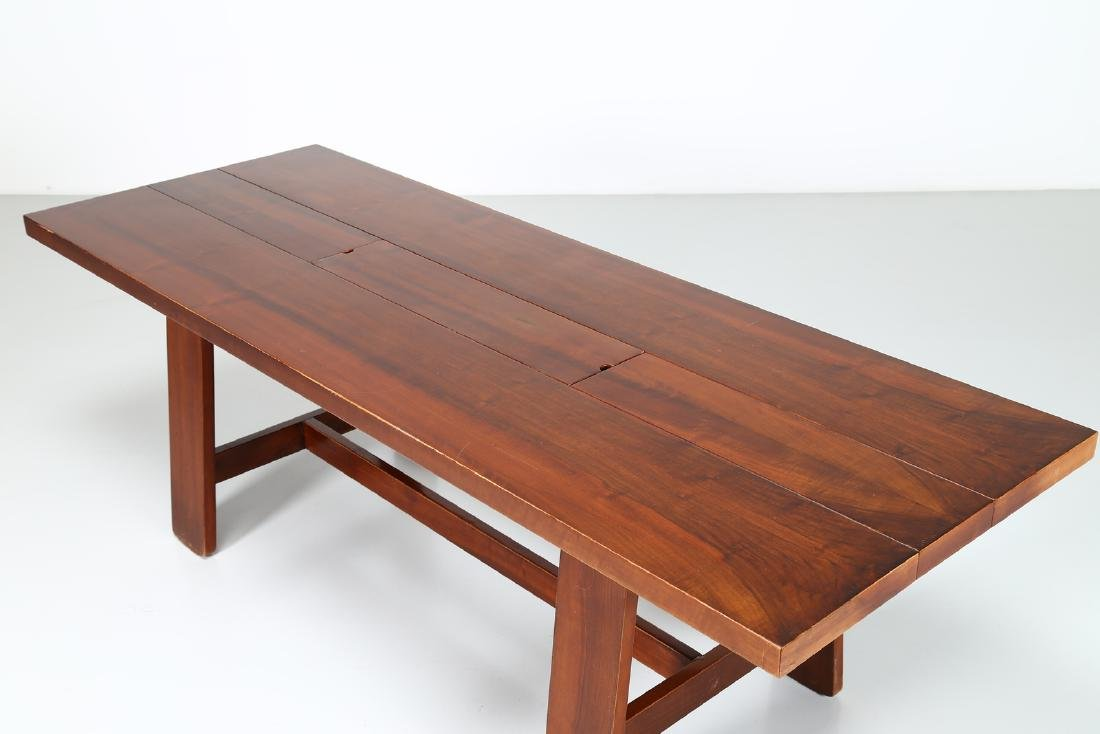 SILVIO COPPOLA Solid walnut table by Bernini, 1969. - 6