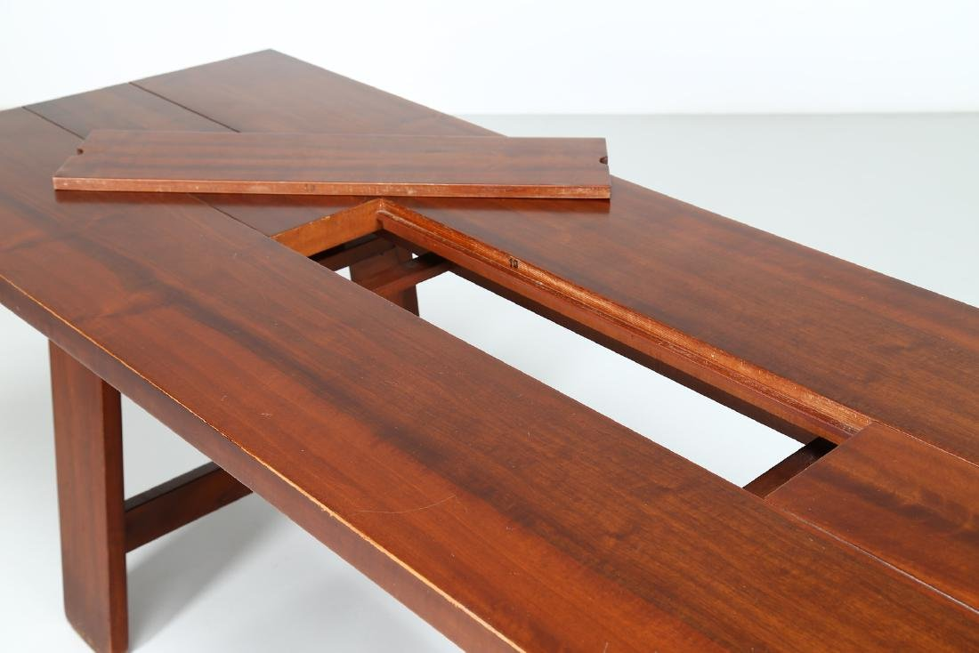 SILVIO COPPOLA Solid walnut table by Bernini, 1969. - 7