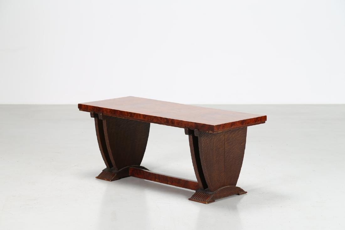 PIER LUIGI COLLI Smoking table in wood and briar root,